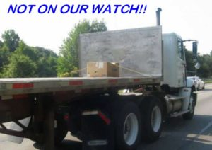 quality service price 1 -zippy shipping method box on truck-captioned not on our watch